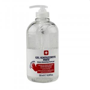 Gel antibacterian pentru dezinfectarea mainilor, dozator, 500 ml, set 10 bucati