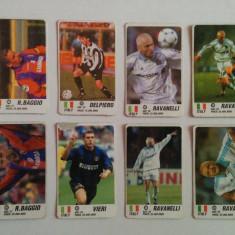 Lot 17 cartonașe fotbal - EURO 2000 - jucători din Italia (Baggio, Delpiero)