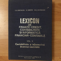 Lexicon de finanțe-credit contabilitate și informatica financiar-contabila/vol 2