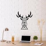 Decoratiune pentru perete, Ocean, metal 100 procente, 48 x 53 cm, 874OCN1036, Negru