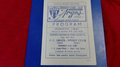 program FC Arges - SC Bacau foto