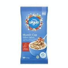 Musli cu Capsuni si Iaurt Cup Bio 55gr Davert Cod: 4019339637036