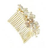 Pieptan decorativ, perle acrilice