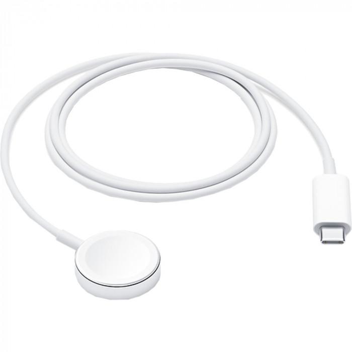 Incarcator Cablu cu Incarcare Magnetica USB Type C 1M Pentru Apple Watch Alb