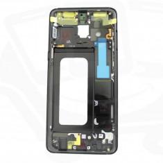 Rama cu butoane Volum si Power pentru SAMSUNG Galaxy A8 2018 (Negru)