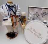 Cumpara ieftin Set Botez Traditional Raul 17 - 4 piese costumas, trusou, lumanare si cufar
