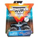 Masinuta Monster Jam, Scara 1:64, Blue Thunder cu figurina, Albastru