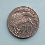 NOUA  ZEELANDA  -  20 Cents 1987