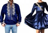 Cumpara ieftin Set Cuplu Traditional 93 Camasa Traditionala si Rochie cu motive traditionale