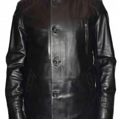 Haina barbati, din piele naturala, marca Kurban, 103-01-95, negru , marime: 4XL