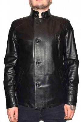 Haina barbati, din piele naturala, marca Kurban, 103-01-95, negru , marime: 4XL foto