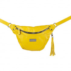 Yellow Multifunctional Limited Edition Leather Belt Bag