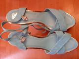 Sandale  bleu tip platforma dama, marimea 41