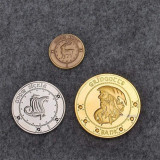 3 Monede HARRY POTTER - Galleon Sickle - Gringots Bank