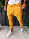 Pantaloni VAGABOND - de trening pentru barbati - slim fit - mustar - A6402, Din imagine