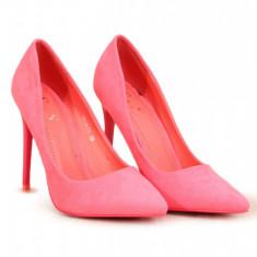 PDS106-5 Pantofi stiletto cu aspect matte