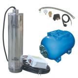 Pompa submersibila apa curata in sistem hidrofor, recipient 24 litri, Wasserkonig WK6000-57, 6000l/h, 1400W, 57bar