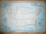 Harta SUA Ed.de Societatea Nationala de Geografie 1968 , dim.= 1,08x0,74m