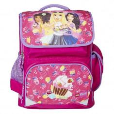 Ghiozdan scoala Premium LEGO Core Line - roz Friends Cupcake