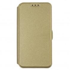 Husa Huawei P9 Lite Mini - Inchidere Magnetica Aurie