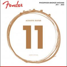 Corzi chitara acustica Fender 60CL Phosphor Bronze 11-52