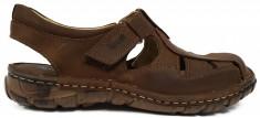 Sandale barbati din piele maro Berende 334 foto