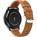 Curea piele Smartwatch Samsung Gear S2, iUni 20 mm Vintage Brown