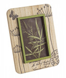 Rama foto de masa lemn verde crem Hollis 17 cm x 22 h, Bizzotto