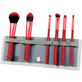 Cumpara ieftin Set pensule profesionale Royal Langnickel MODA Total Face Flip Kit, 7 piese, Red