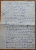 Otilia Cazimir , manuscris , 2 pagini