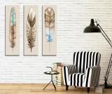 Cumpara ieftin Set 3 tablouri Feather 20x70 cm - Symphony