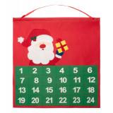 Advent calendar, 380×400 mm, Everestus, 20FEB16212, Material netesut, Rosu, Verde, 2 bastonase gonflabile incluse