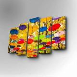 Cumpara ieftin Tablou decorativ pe panza Art Five, 5 Piese, 747AFV1251, Galben
