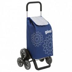 Carucior cumparaturi Gimi Tris Floral, Albastru