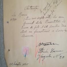 1945. Bon plată tăiat lemne, M. Tomescu, Șoseaua Vergului, București