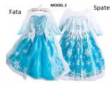 Rochita Elsa cu trena lunga , Rochie Frozen, petrecere 3, 4, 5, 6 ani