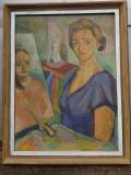 Tablou ulei pe panza Mohy Sandor, Portrete, Impresionism