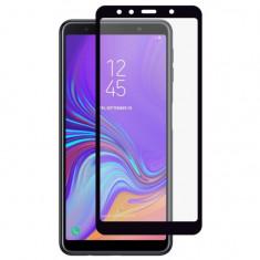 Folie Sticla Full Cover Premium pentru Samsung Galaxy A7 2018 5D Full Glue Negru
