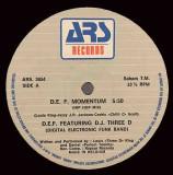 D.E.F. feat. DJ Three D - D.E.F. Momentum 1985 Electro, disc vinil Maxi Single