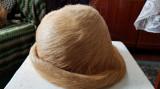 Caciula dama Favior-Orastie,noua,din blana naturala de nutrie, Crem, 56