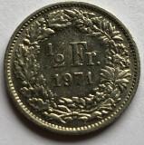 i259 Elvetia 1/2 franc 1971