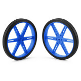 Pereche Roţi Albastre Pololu 80x10 mm