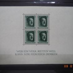 1937  Germania ( Reich ) Mi - bloc 4  Colita**, Nestampilat