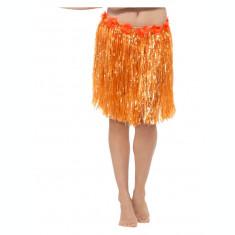 Fusta hawaiiana scurta portocalie
