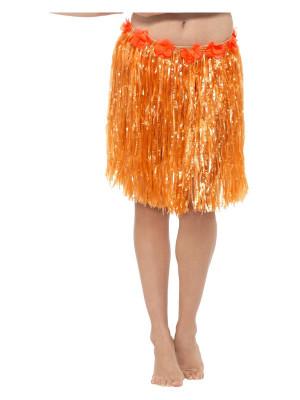 Fusta hawaiiana scurta portocalie foto