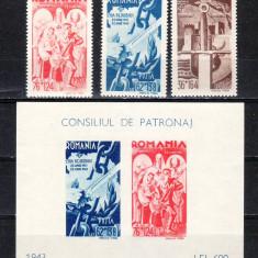 1943  Consiliul de patronaj    serie + colita