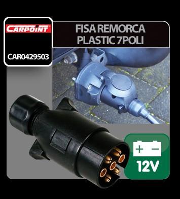 Fisa remorca plastic 7 poli Carpoint 12V Vrac - CRD-CAR0429503 Auto Lux Edition foto