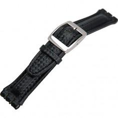 Curea de ceas neagra Morellato - Swatch 20mm A01U1840840824MO20