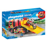 Set de joaca Playmobil City Life, Masina De Remorcare Cu Motocicleta