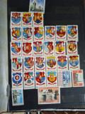 Clasor, 10 foi negre,  cu peste 700 timbre romanesti, MNH, deparaiate